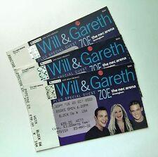 RARE Will Young & Gareth Gates Memorabilia Tickets Stub(s) Birmingham 22/10/02