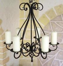 Kronleuchter 95230 Kerzenhalter H-60 cm Kerzenständer Hängeleuchter aus Metall