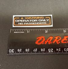 RIDER WARNING 1986 ATC 250R HONDA DECAL STICKER EMBLEM USED ON 200X AND 350X TRX