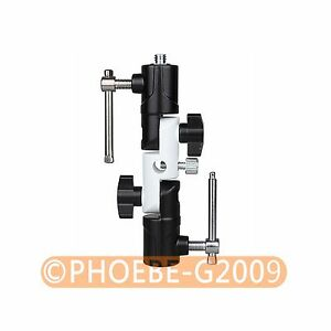 "Flash Shoe Swivel Umbrella Holder Light Stand 1/4""-3/8"" Adapters Bracket U Type"