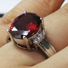 Gorgeous Red Ruby Ring Women Jewelry Wedding Engagement Gift Nickel Free