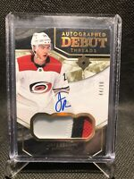 2018-19 UD Ultimate Collection Jake Bean Autographed Debut Threads /99 RC Auto