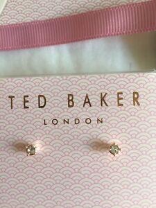 Ted Baker rose gold tone crystal Earrings packaging