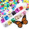 3D Nagel Sticker New Design Glitzer Blume Schmetterling Aufkleber Nail Art