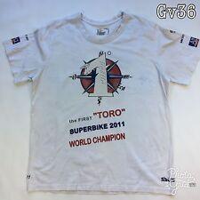 "Mens Hanes ""The First Toro Superbike 2011 World Champion""  White SizeXXL T Shirt"