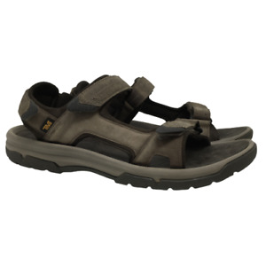 Teva Langdon Sandals Brown Strappy Sport Shoes Style 1015149 Mens Size 13M