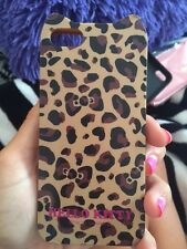 HELLO KITTY leopard brown/black rubber iPhone 5 case for Apple