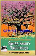 Vintage Disney  ( Swiss Family Treehouse ) Collector's Poster Print - B2G1F