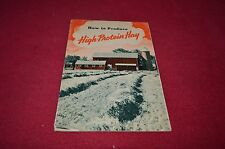 Case Tractor How To Produce High Protein Hay Dealers Brochure DCPA7