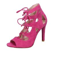 womens shoes GEORGIA MAY JAGGER MINELLI 7 (EU 40) sandals fucsia suede BT589-40