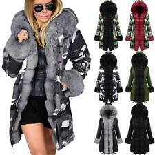 Roiii Women Thicken Warm Camouflage Fashion Skiing Lightweight Winter Coat Hooded Parka Jacket