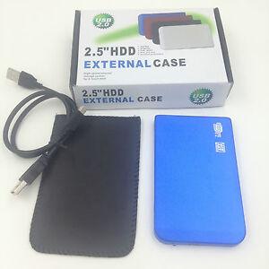 "New 1TB 1000 GB External Portable 2.5"" USB 2.0 Hard Drive HDD POCKET SIZE BLUE"