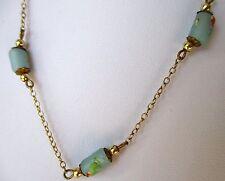 Perles Ø=1,4cm Tube Verre Bijoux Artisanat Inde