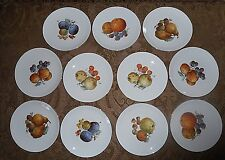 Vtg Tirschenreuth Bavarian Germany Plates_Fruit Harvest_Fruit Plates_ Gold 8 1/2