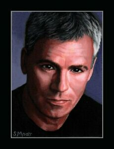 Jack O'Neill Portrait Stargate SG1 Original Art ACEO mini Painting