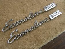 NOS OEM Ford 1968 - 1972 Econoline E200 Van Emblems Ornaments 1969 1970 1971