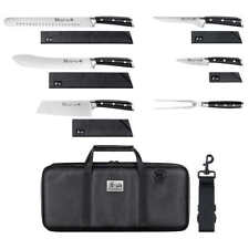 Cangshan S Series 7-piece Bbq Knife Set, Sheaths Included, Black