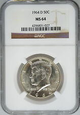 1964-D NGC MS64 Kennedy Half Dollar
