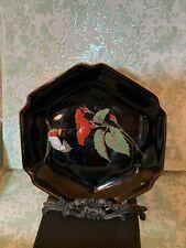 Vintage OTAGIRI Hummingbird Hibiscus Plate Japan Gibson Greetings MINT Stunning