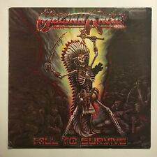 MELIAH RAGE LP KILL TO SURVIVE ORIGINAL ISSUE LATE 80,s VG SHAPE