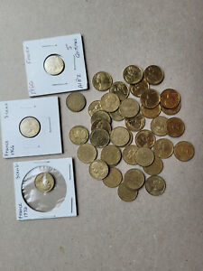 Lot of 40, 5 centimes, copper-aluminum coins from France KM# 933
