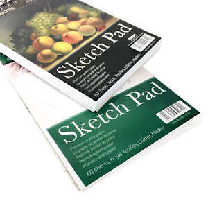 A5 Pad Sketching Drawing Book Art Craft Plain White Paper 60 Sheets Wiro Cover