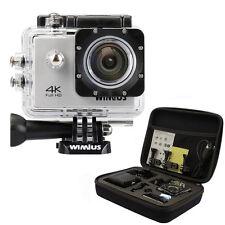 Wimius 4K full HD Sports Action Camera 1080p wifi Waterproof Helmet +Gopro bag