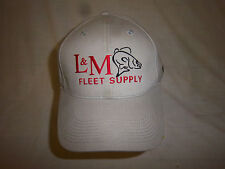 trucker hat baseball cap L&M FLEET SUPPLY retro slide adjuster cool cloth rare