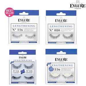 Eylure Lengthening False Reusable Eyelashes + Glue/Adhesive Lash Volume & Curl