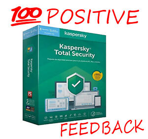 Kaspersky Total Security 2021 Global Activation License 1 Year | 1, 2, 3 Devices