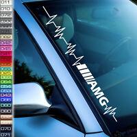 Pulsschlag AMG Aufkleber 26 Farben Auto Benz s 53 63, Frontscheibenaufkleber F4