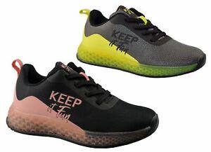 Girls Kids Running Jogging Walking Lightweight School Lace Trainers Shoes Size