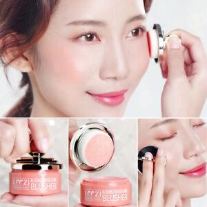 Women 3 Colors Blusher Powder Palette Long Lasting Soft Face Cosmetic Makeup
