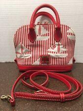 Dooney & Bourke Sailboat Bitsy Bag Red White NWOT