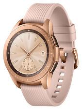 Samsung Galaxy Watch SM-R815 42mm Rose Gold Gehäuse mit Klassisches Armband in Pink Beige - LTE (Telekom Mobilfunk)