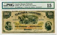 1897 La Banque Nationale $10.00 Ten Dollar Note PMG Choice Fine 15 S/N 502693