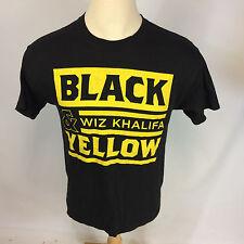 Wiz Khalifa Black & Yellow Album Concert Tour T Shirt VTG Rap Hip Hop M