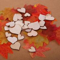 100x tasselli cuori cuore legno scrapbook scrapbooking album foto matrimonio