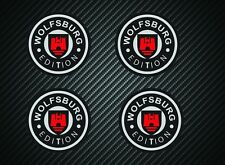 WOLFSBURG EDITION x4  WHEEL STICKERS 50mm T2  VW VDUB  BAY T25 WESTFALIA GOLF