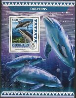 SOLOMON ISLANDS  2017  DOLPHINS  SOUVENIR SHEET MINT NH