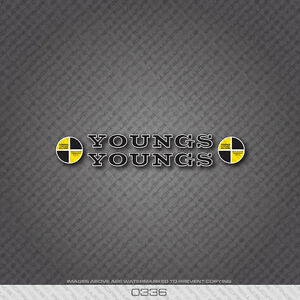0336 Youngs Bicycle Frame Stickers - Decals - Transfers