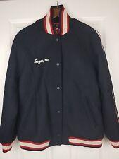 Zara Trafaluc Outwear Woman Black Embroid Slogan Bomber Harrington Jacket Size L