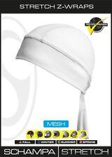Mesh White Schampa Stretch Z Wrap Sweatband Durag Head Wrap Biker Free Shipping