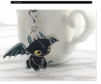 How to Train Your Dragon the Movie Night Fury Toothless Metal Key Chain Ring