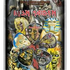 OFFICIAL LICENSED - IRON MAIDEN - EARLY ALBUMS 5 GUITAR PLECTRUM / PICKS PACK