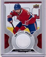 ALEX GALCHENYUK 17/18 Upper Deck UD Game Jersey #GJ-AG Montreal Canadiens Card