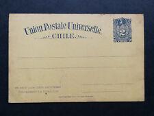 Chile,rare postal stationery card