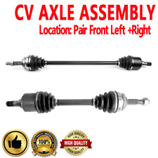 Front Pair CV Axle Assembly for N SENTRA L4 1.8L Automatic Transmission