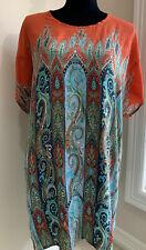 TOLANI Size Medium 100% Silk Boho Tunic Dress