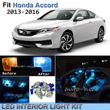 9pcs Bright Ice Blue Interior LED Light Package Kit For 2013-2016 Honda Accord